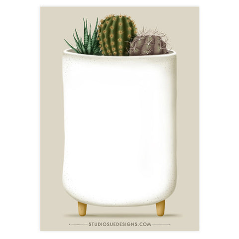 Mini Cacti Notepad
