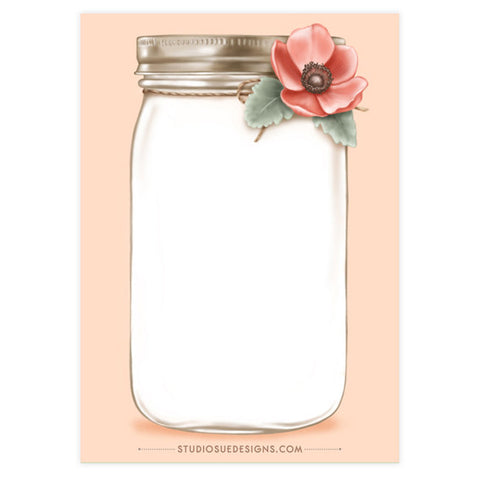 Mini Mason Jar Notepad