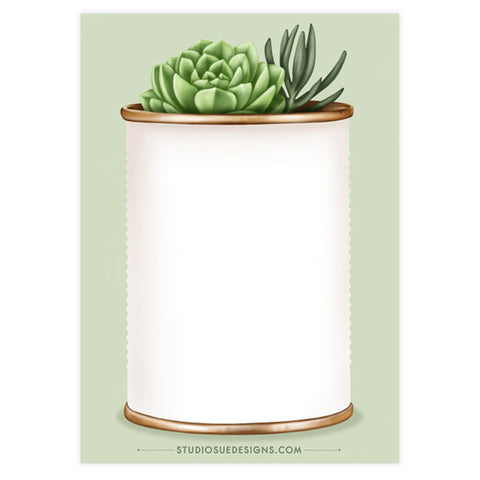 Mini Succulents Notepad