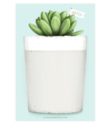 Concrete Planter Notepad