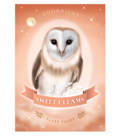 Sweet Dreams Owl Art Print