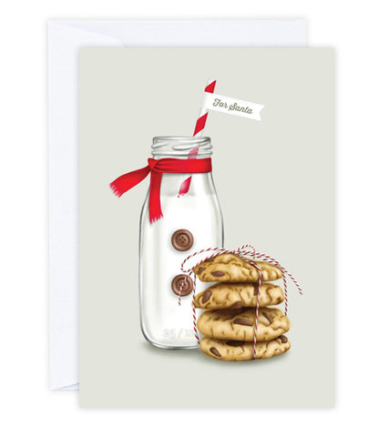 Milk and Cookies Christmas Greeting Card