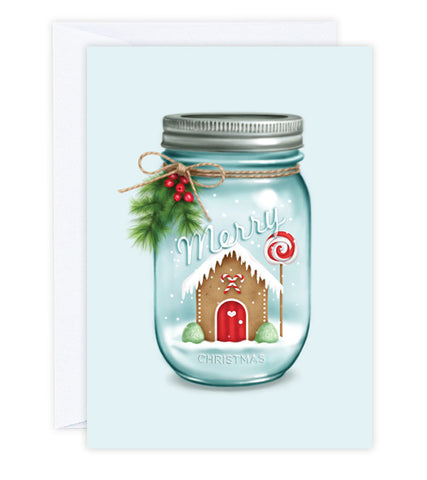 Winter Wonderland Mason Jar Greeting Card