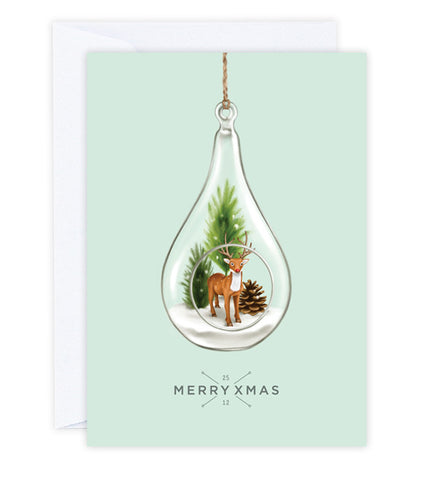 Christmas Terrarium Greeting Card
