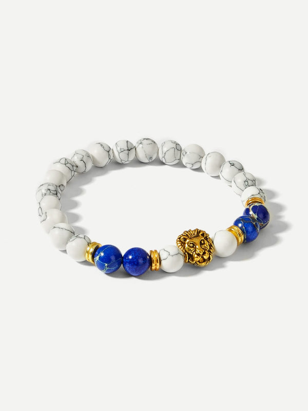 LION DETAIL BEADED BRACELET - MIXT Apparel