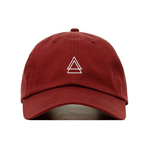 Double Triangle Dad Hat (Burgundy) - MIXT Apparel