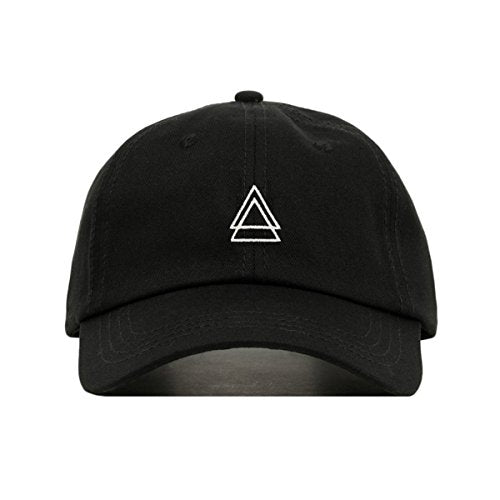 DOUBLE TRIANGLE DAD HAT (Black) - MIXT Apparel