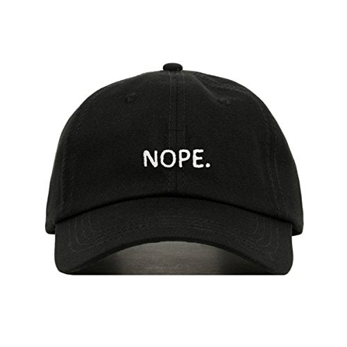 NOPE DAD HAT (Black) - MIXT Apparel