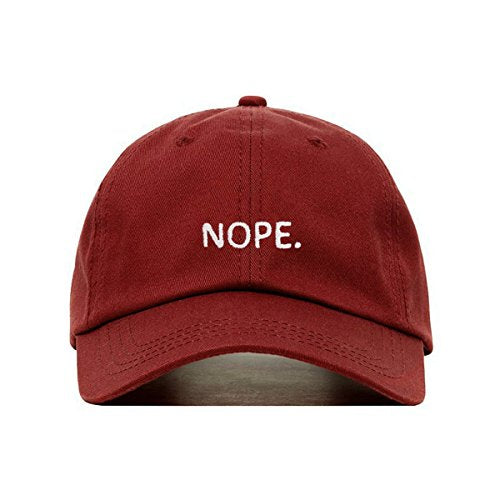 Nope Dad Hat (Burgundy) - MIXT Apparel