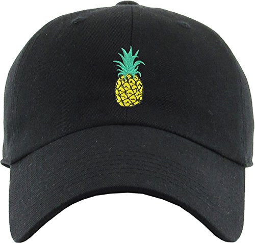 BLK PINEAPPLE DAD HAT - MIXT Apparel