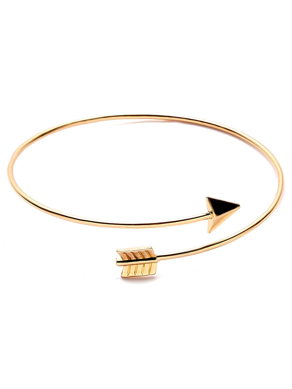 Gold Plated Arrow Wrap Bangle - MIXT Apparel