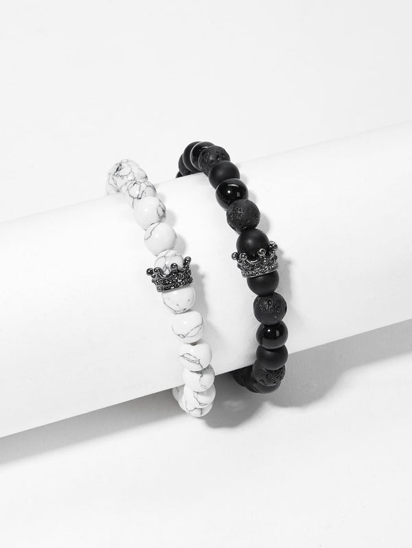 MARBLE PATTERN BRACELET Set 2pcs - MIXT Apparel