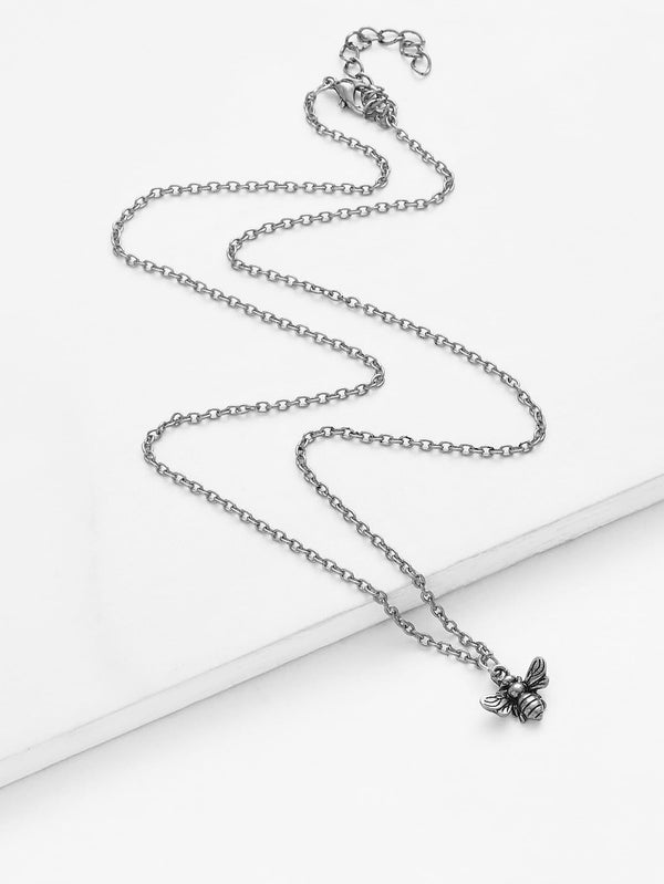 Bee Pendant Chain Necklace - MIXT Apparel