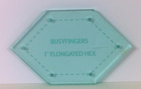 Hexagon Elongated Acrylic Template