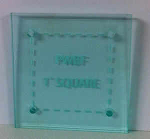 Square 1 Inch Acrylic