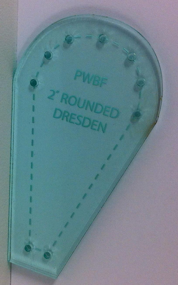 Rounded Dresdan Plate Acrylic Template