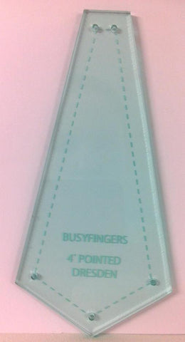 Pointed Dresdan Acrylic Template