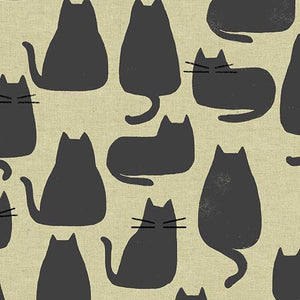 Home - Black Cats on Natural Linen