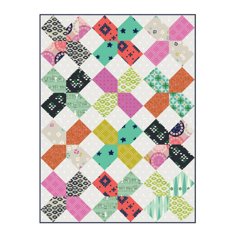 Fat Quarter Pattern - Green Bee The XOXO Quilt 021