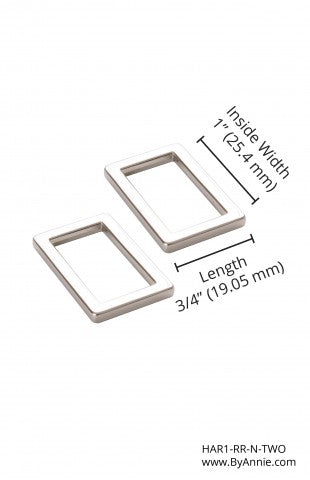 Hardware ByAnnie Flat Rectangle Rings