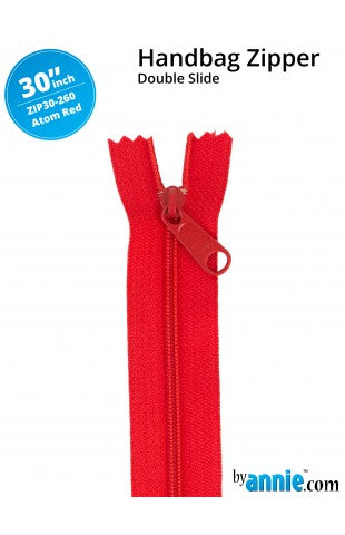 30' Handbag Zip - Atom Red