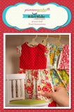 Primrose Garden Doll Dress Panel Red Aqua