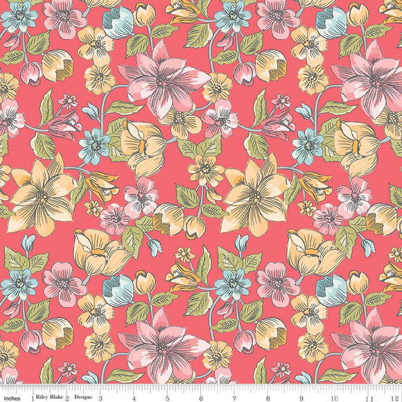 Linen - Lawn Main Red LW6340-Red