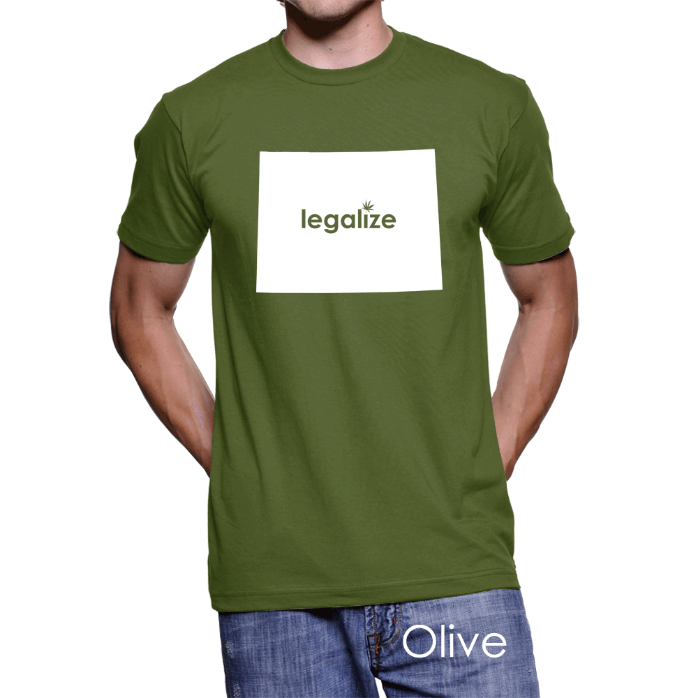 Wyoming Legalize Pot Men's T-Shirt