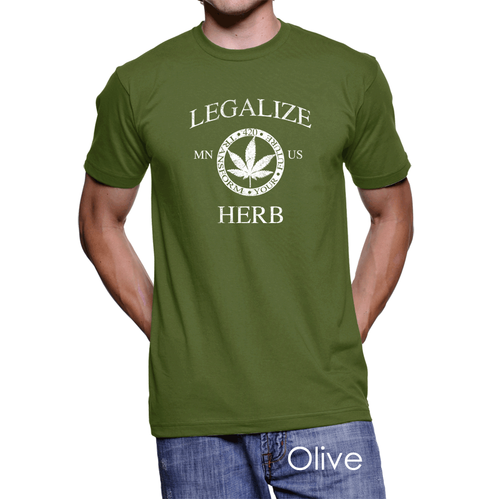 Minnesota Legalize Herb Men's T-Shirt