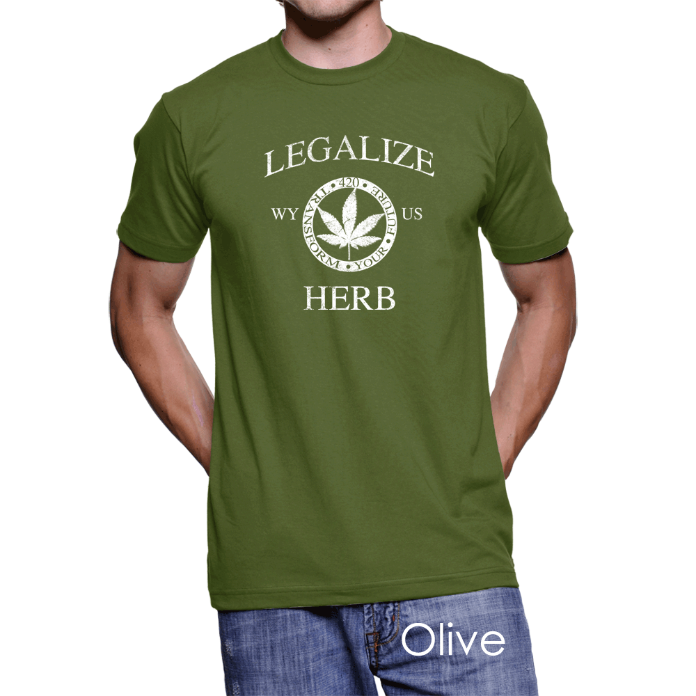 Wyoming Legalize Herb Men's T-Shirt