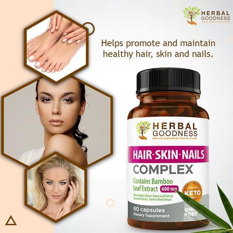 hair skin and nails capsules herbal goodness