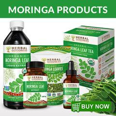 A box of Herbal Goodness Moringa Leaf Tea