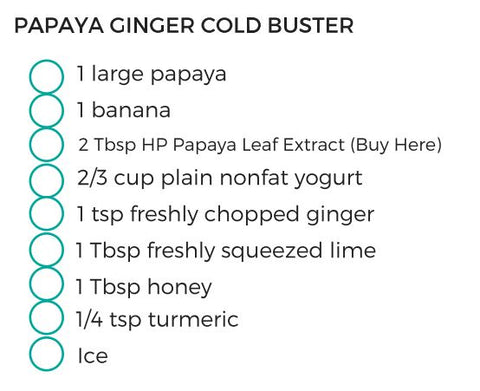 Papaya Ginger Cold Buster