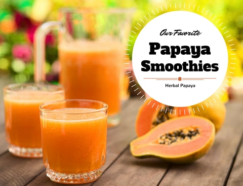 Our Favorite Papaya Smoothies