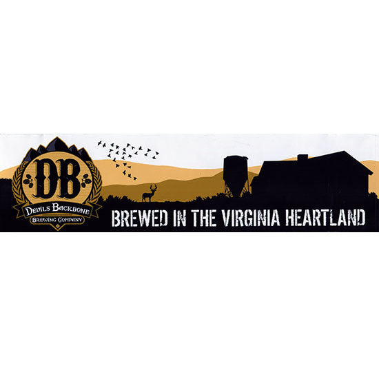 Brewed in the Virginia Heartland Devils Backbone Bumper Sticker