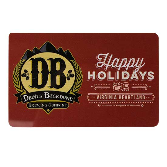 $100 Devils Backbone Holiday Gift Card