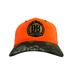 Devils Backbone Mossy Oak Orange Camo Hat - Front View
