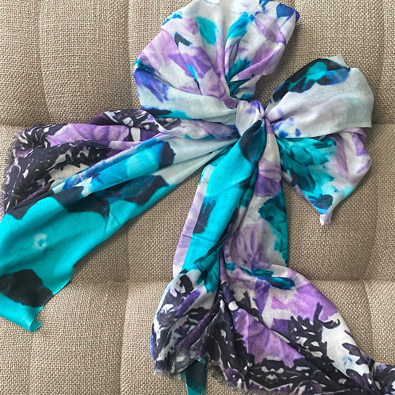exclusive jim and jane printed modal scarf