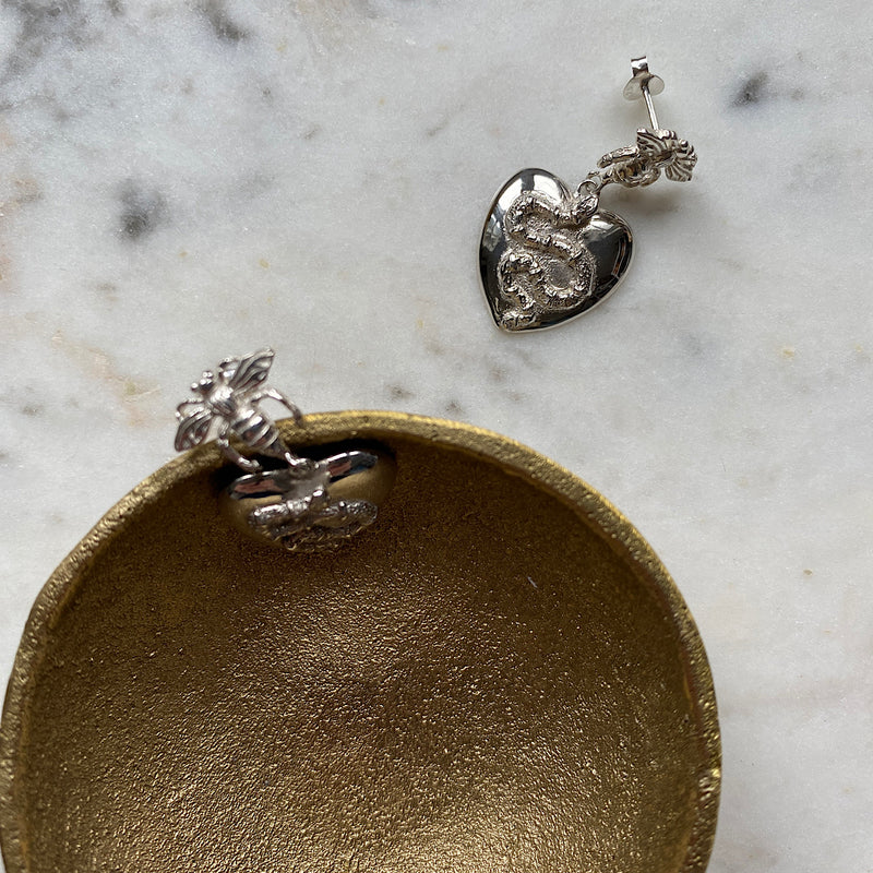 Bee & The Bandy Bandy Silver Earrings