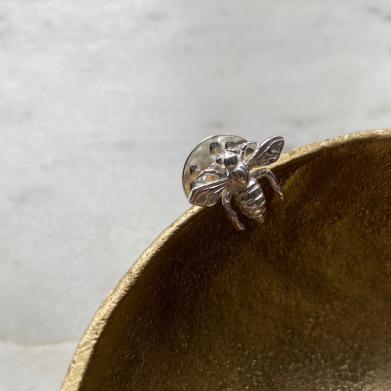 Ligurian Bee Silver Pin