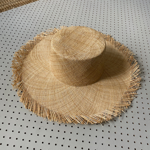 bianca woven straw hat natural colour