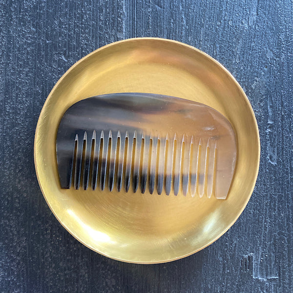 small brass round plate coaster dish by fog linen works japan