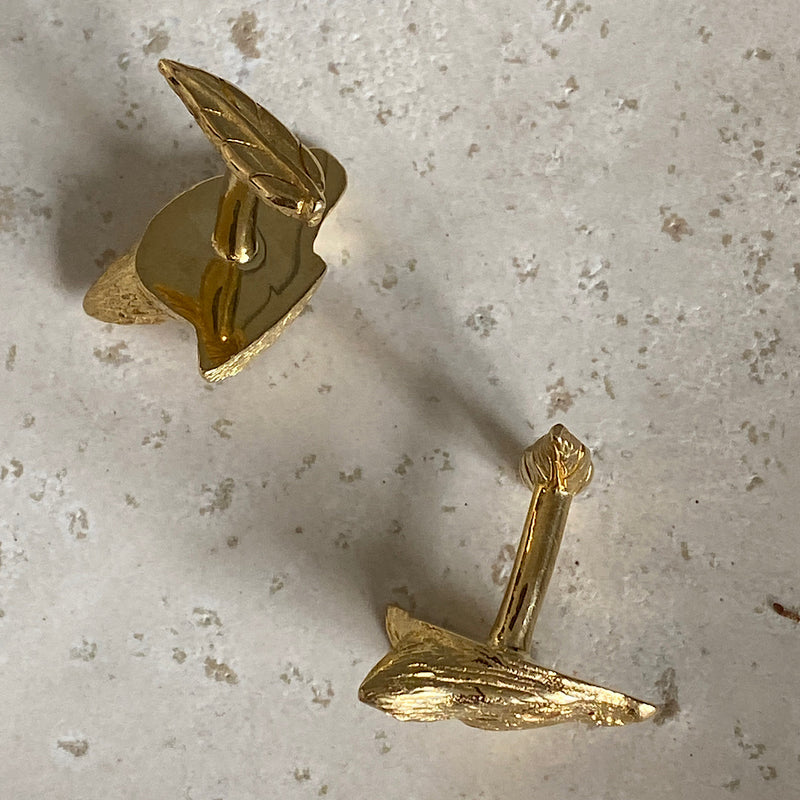 brush tail rock wallaby gold cufflinks