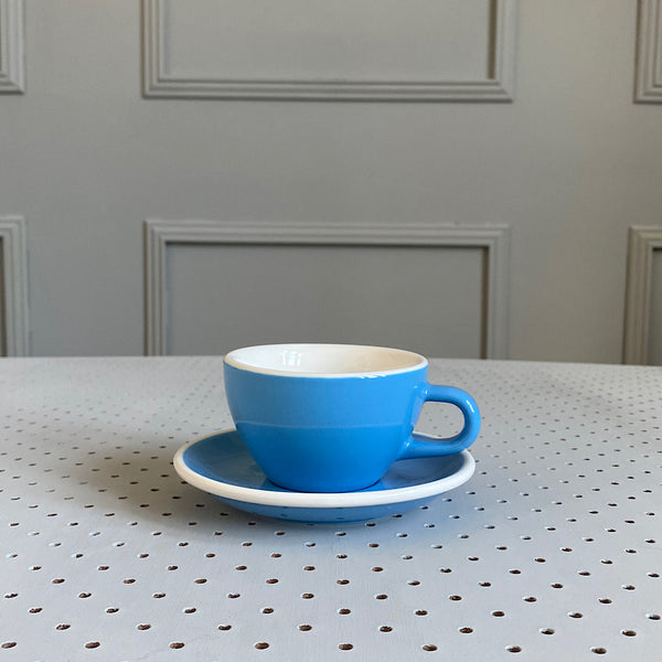 acme & co cappuccino mug cup blue kokako