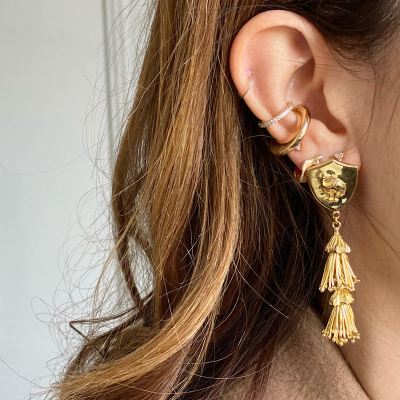 Gold Plated Dyraaba Earrings