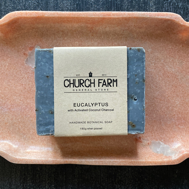 church farm general store handmade eucalyptus and activated charcoal soap