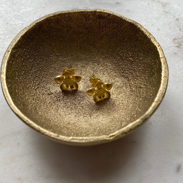 Granite Boronia Gold plated Studs