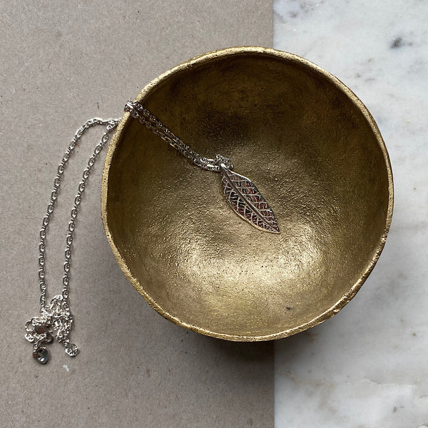 Gum Leaf Silver Necklace