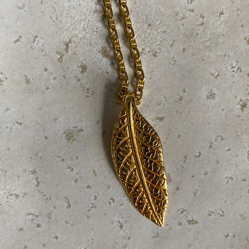Gum Leaf Gold Necklace