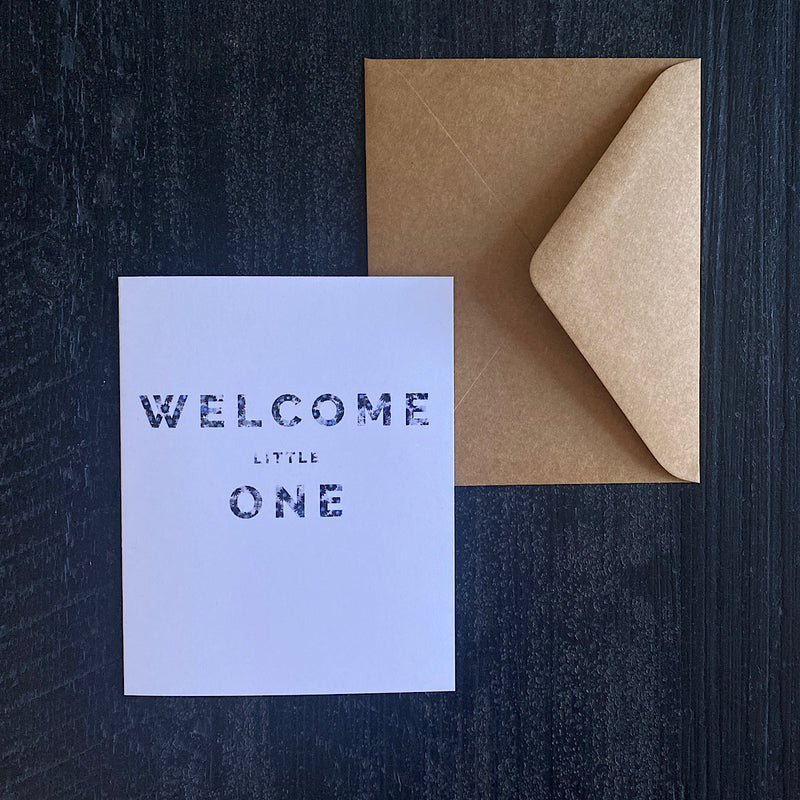 Blooming Type Card | Welcome Little One